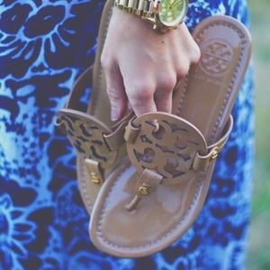 Tory Burch // Miller Sandal In Patent Leather
